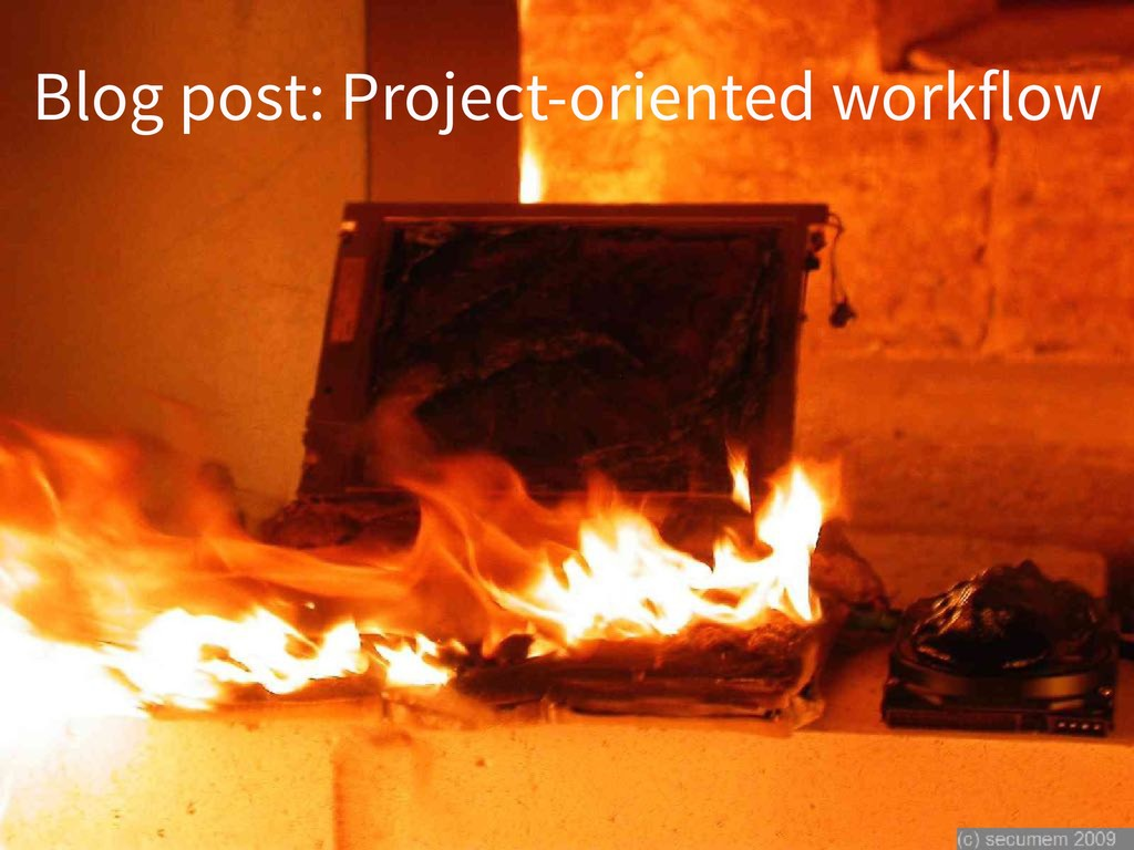 Blog post: Project-oriented workflow