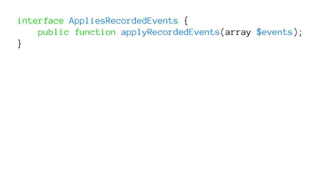 interface AppliesRecordedEvents { public functi...