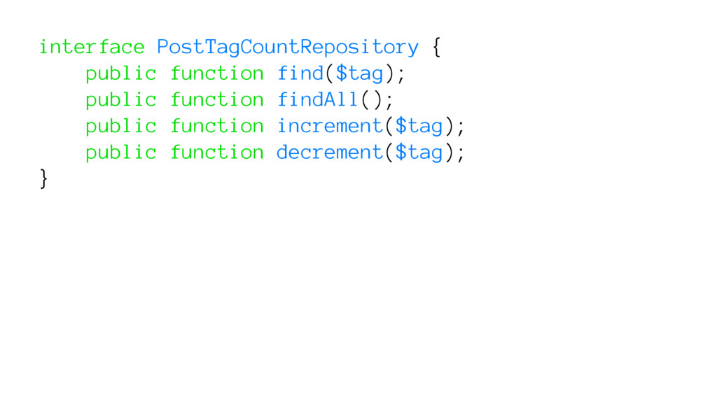 interface PostTagCountRepository { public funct...