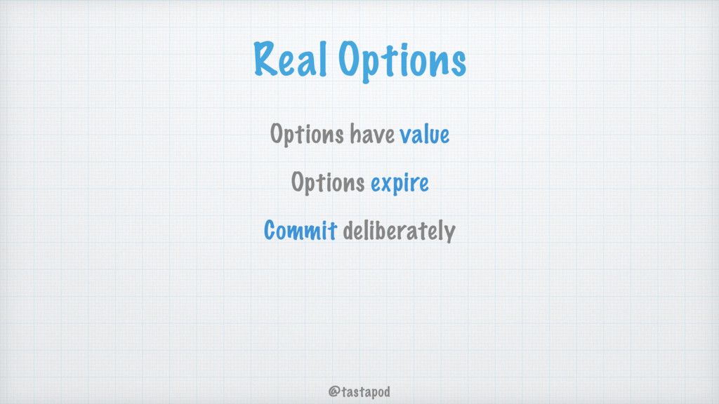 @tastapod Real Options Options have value Optio...