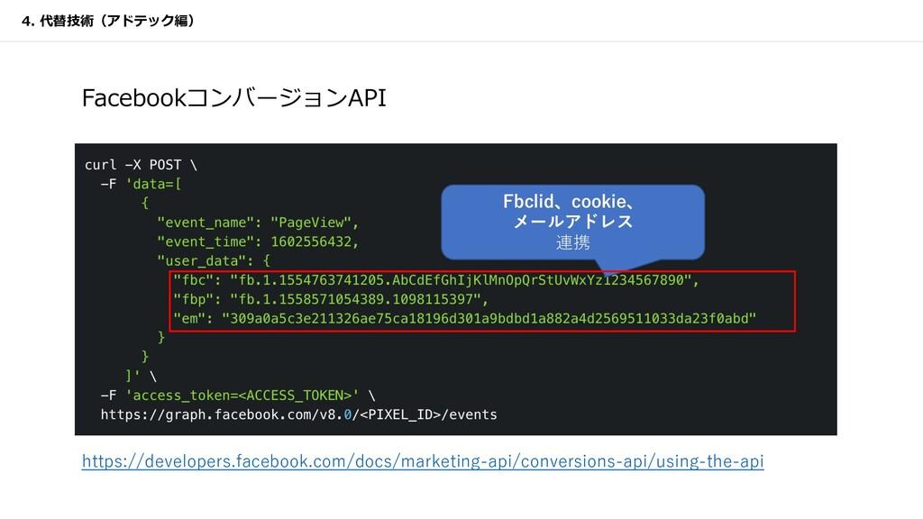 FacebookコンバージョンAPI Fbclid、cookie、 メールアドレス 連携 4....