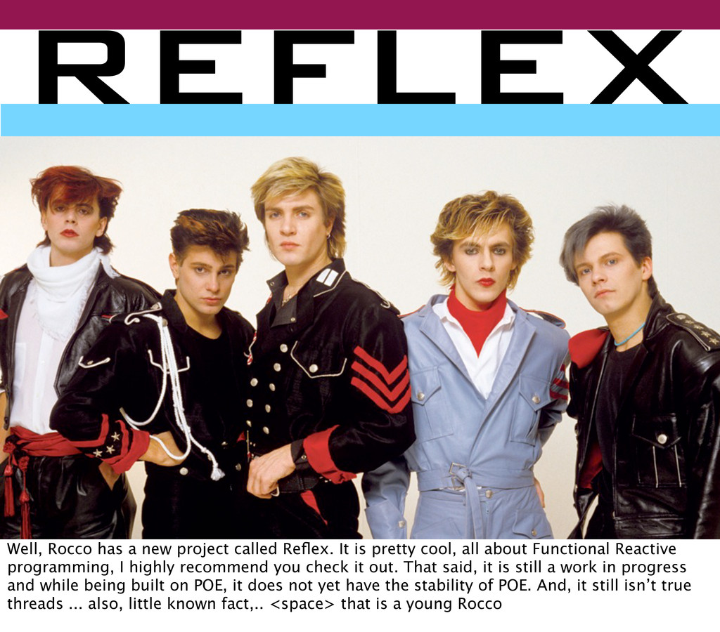 reflex Well, Rocco has a new project called Refl...