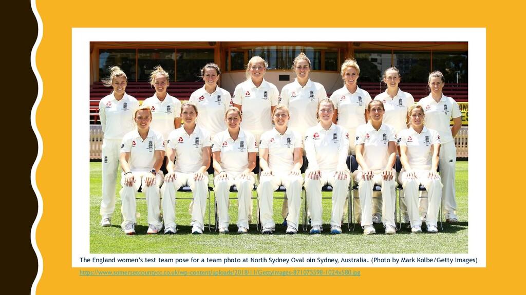 @digisim The England women's test team pose for...