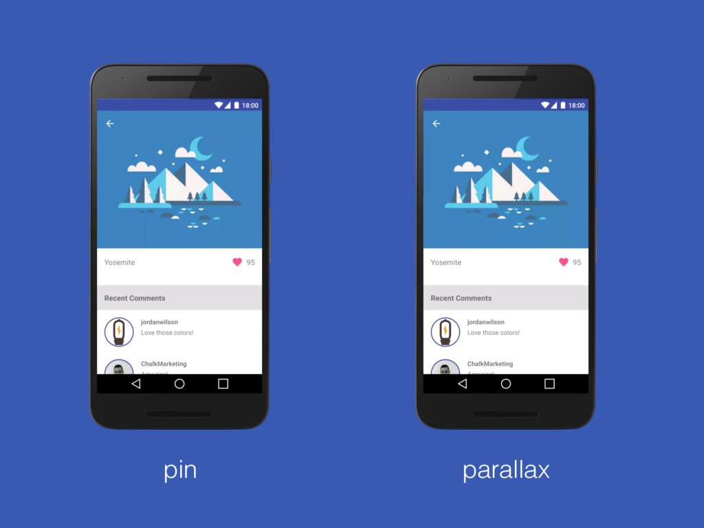 pin parallax