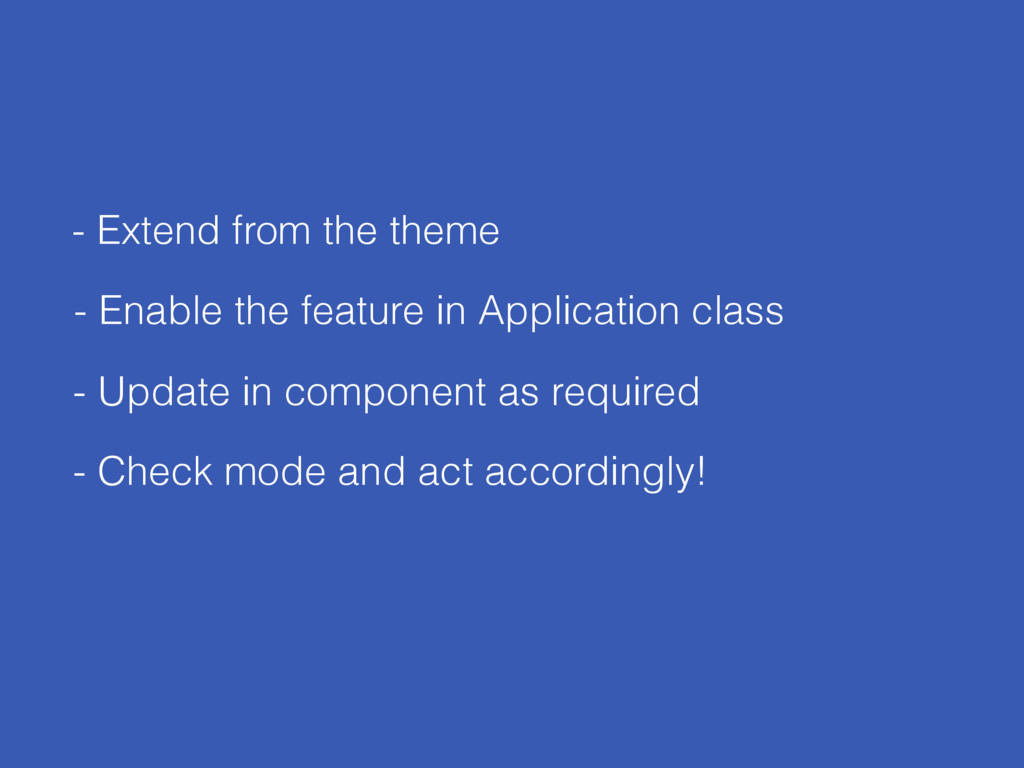 - Extend from the theme - Update in component a...