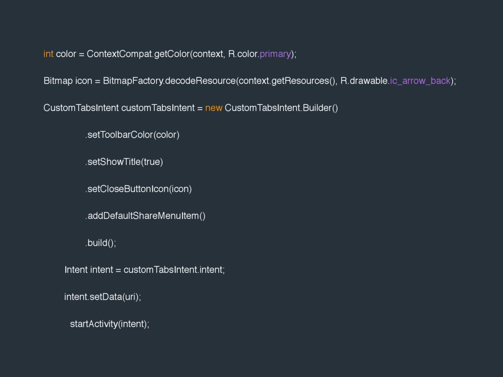 int color = ContextCompat.getColor(context, R.c...