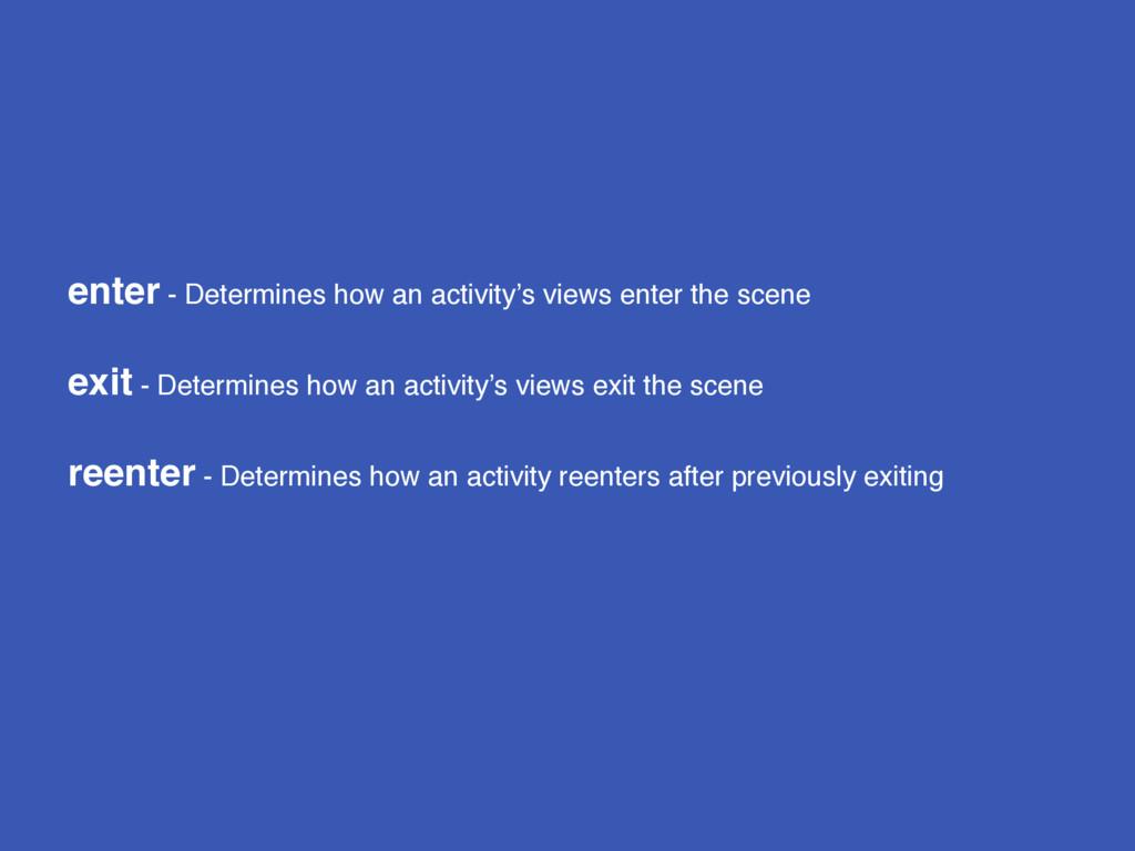 enter - Determines how an activity's views ente...