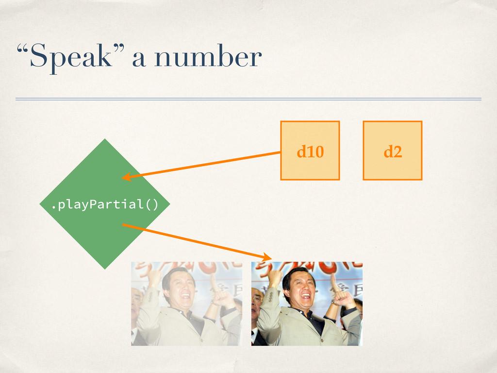 """Speak"" a number .playPartial() d10 d2"