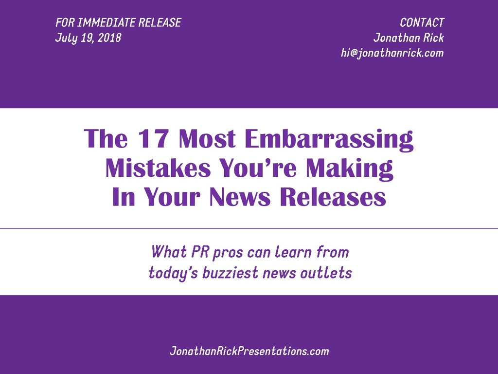 The 17 Most Embarrassing Mistakes You're Making...