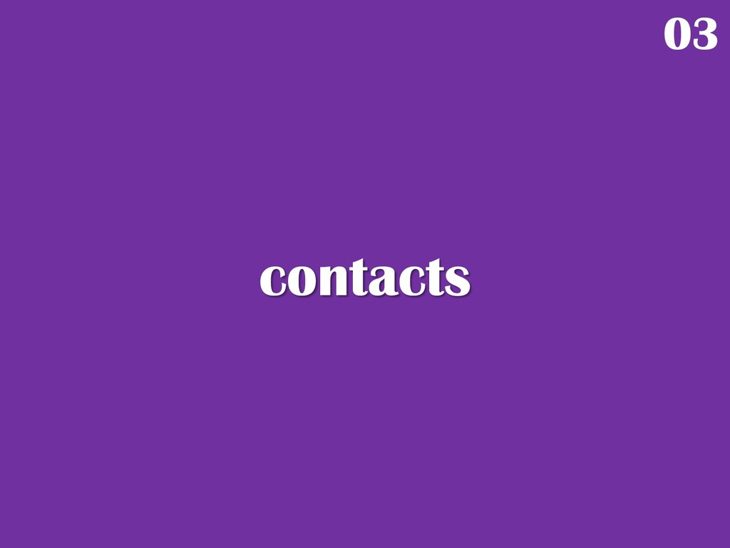 contacts 03
