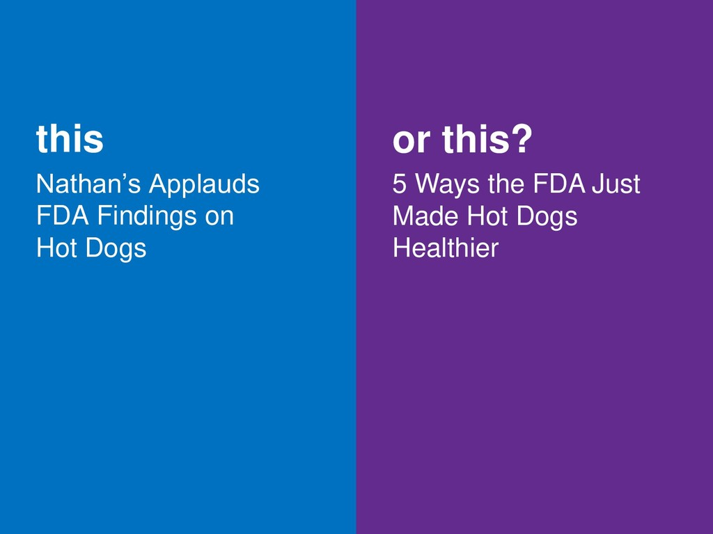 this Nathan's Applauds FDA Findings on Hot Dogs...