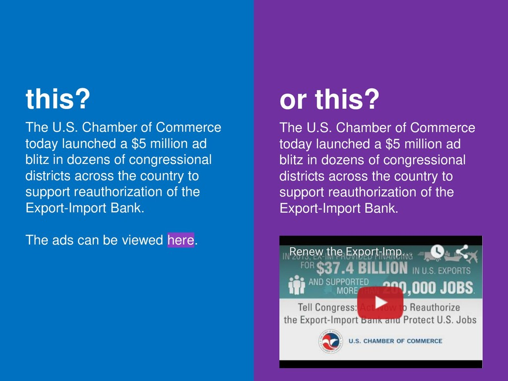 this? The U.S. Chamber of Commerce today launch...