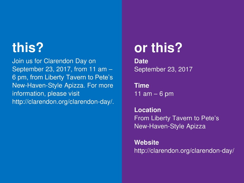 this? Join us for Clarendon Day on September 23...