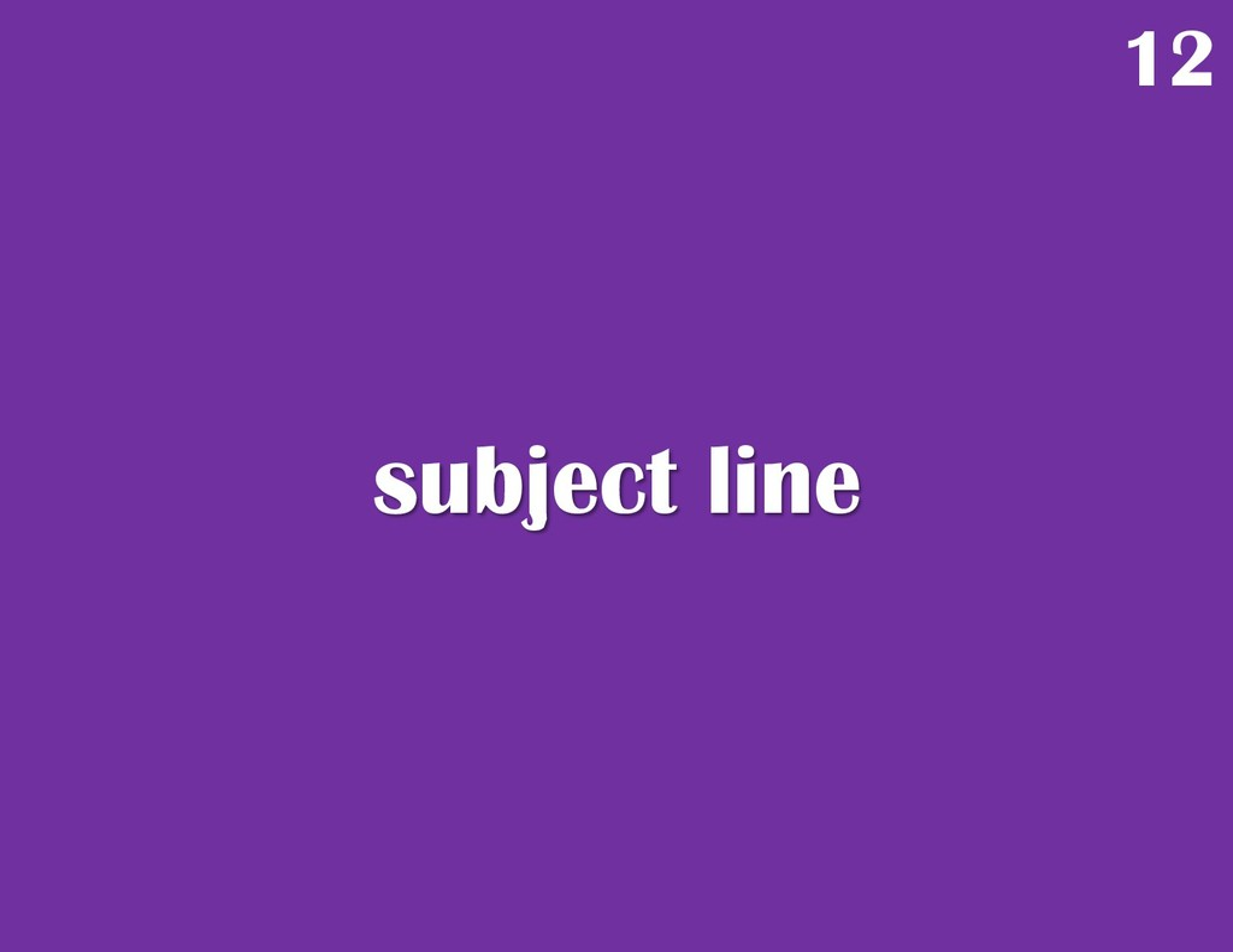 subject line 12