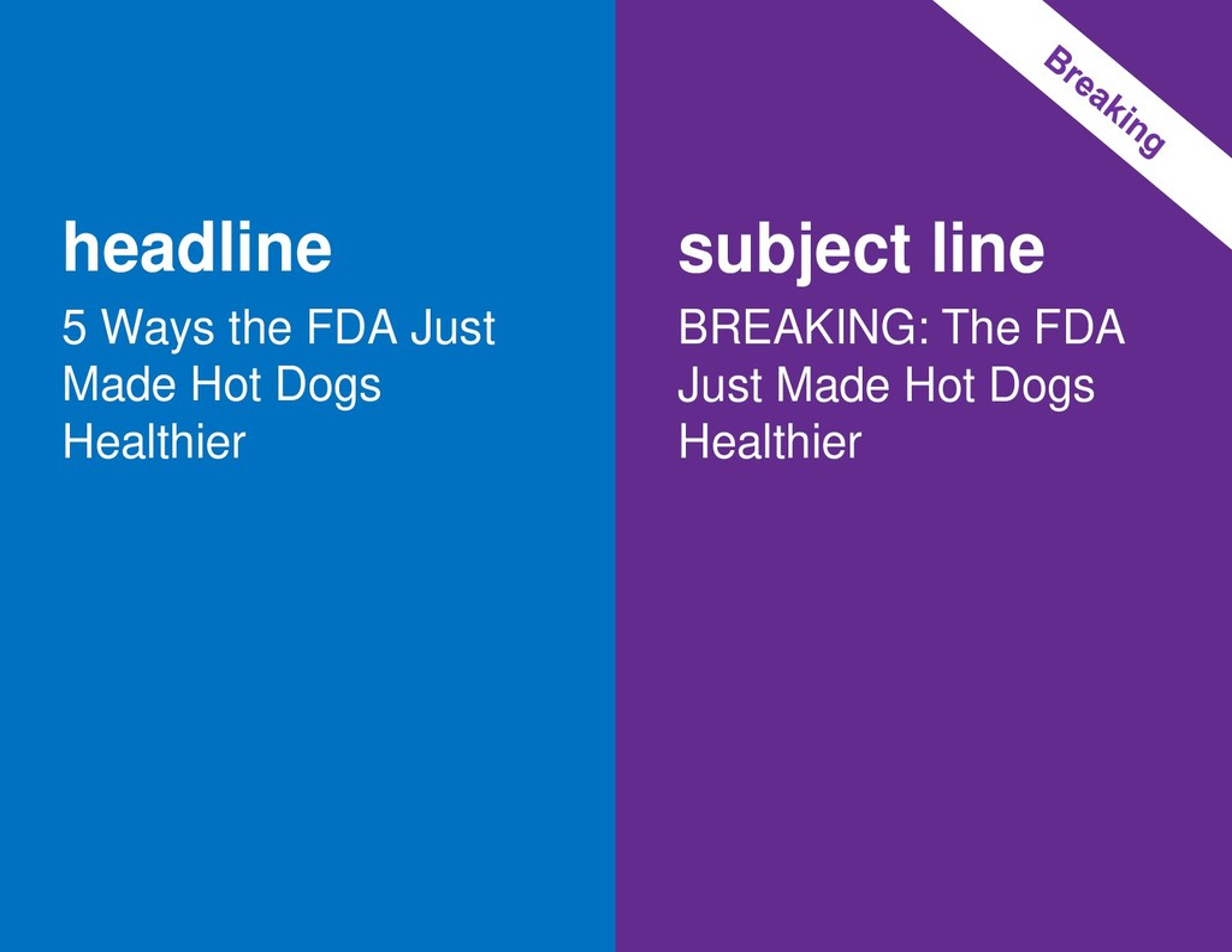 headline 5 Ways the FDA Just Made Hot Dogs Heal...