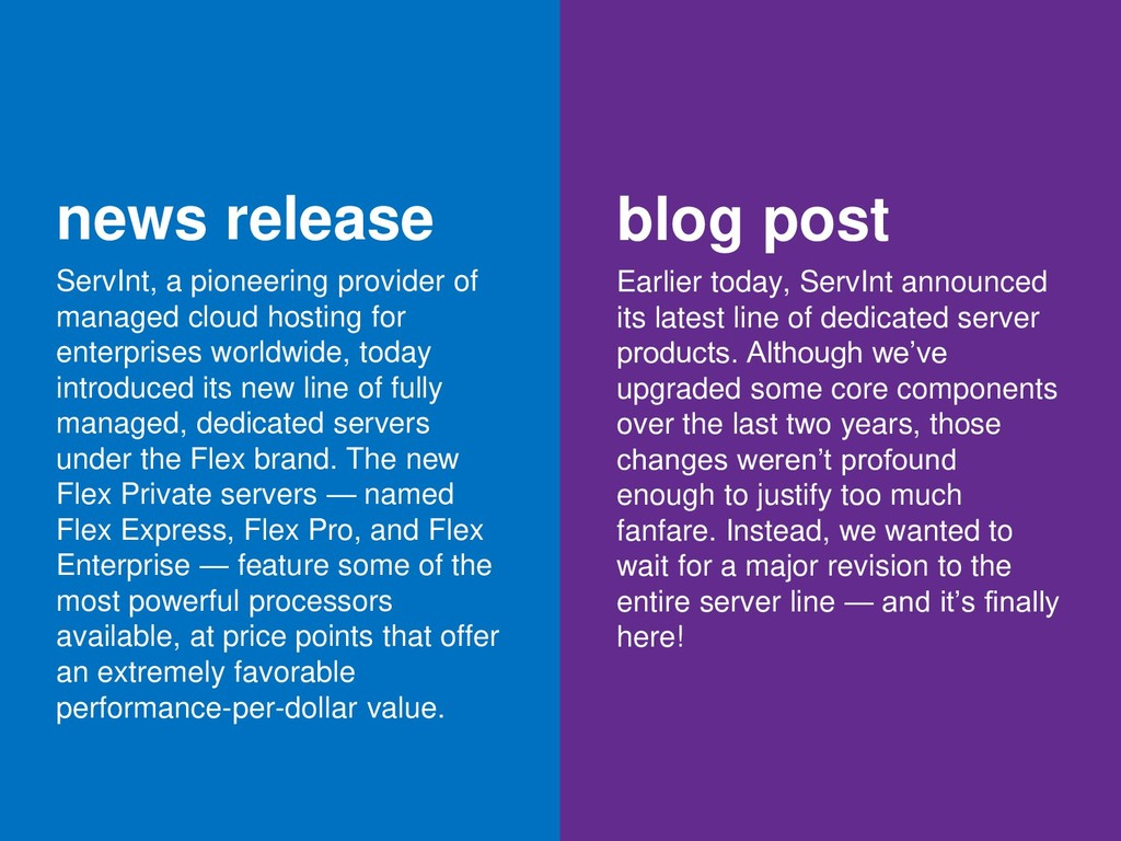 news release ServInt, a pioneering provider of ...
