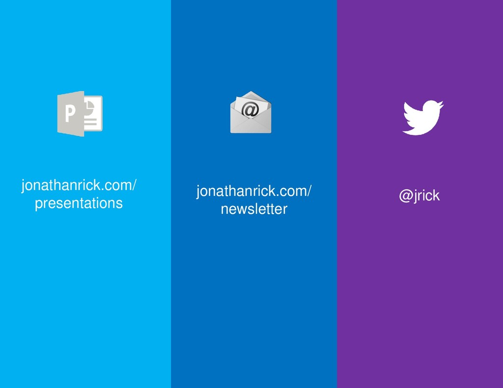 @jrick jonathanrick.com/ newsletter jonathanric...
