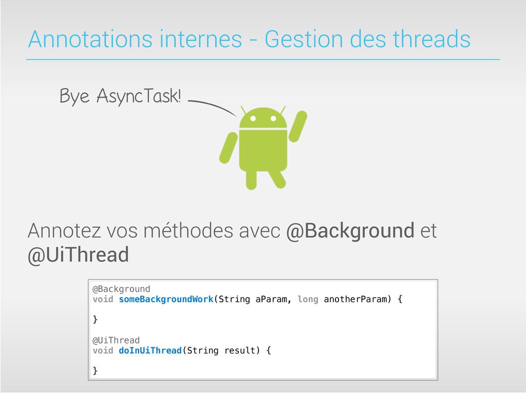 Annotations internes - Gestion des threads Anno...