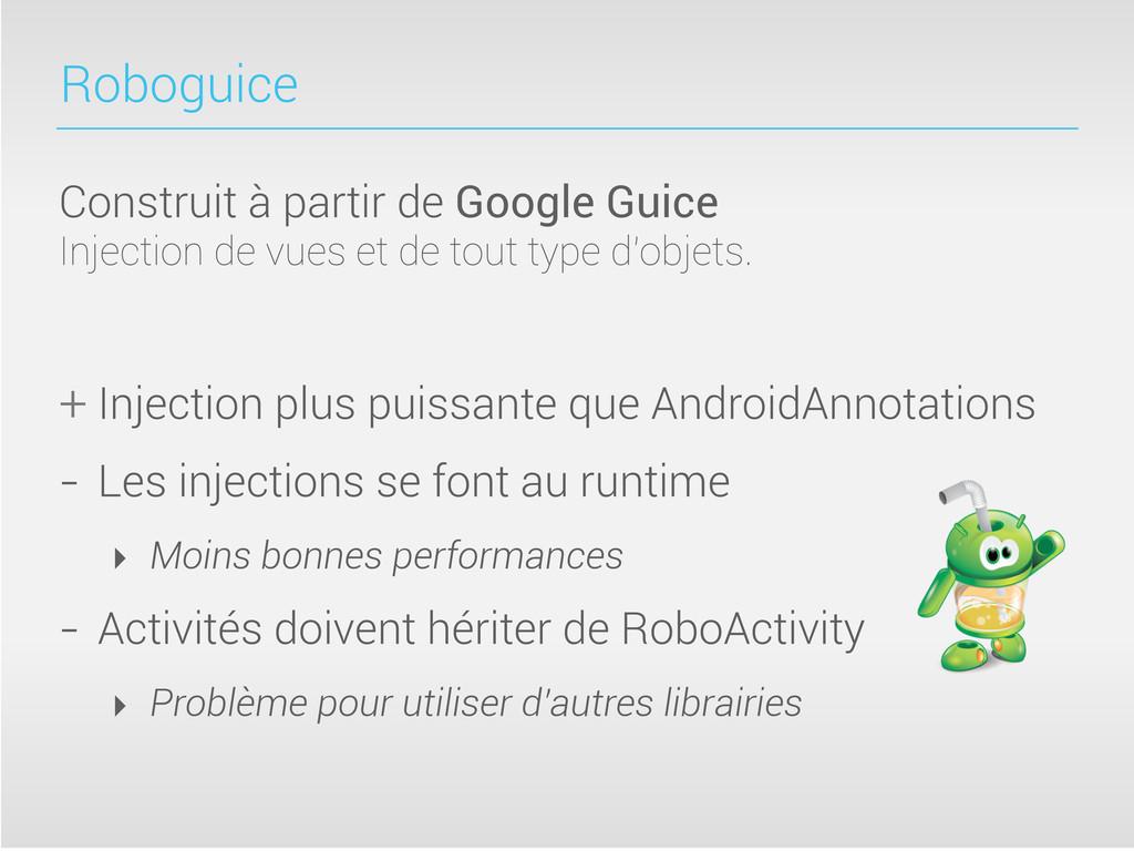 Roboguice Construit à partir de Google Guice In...