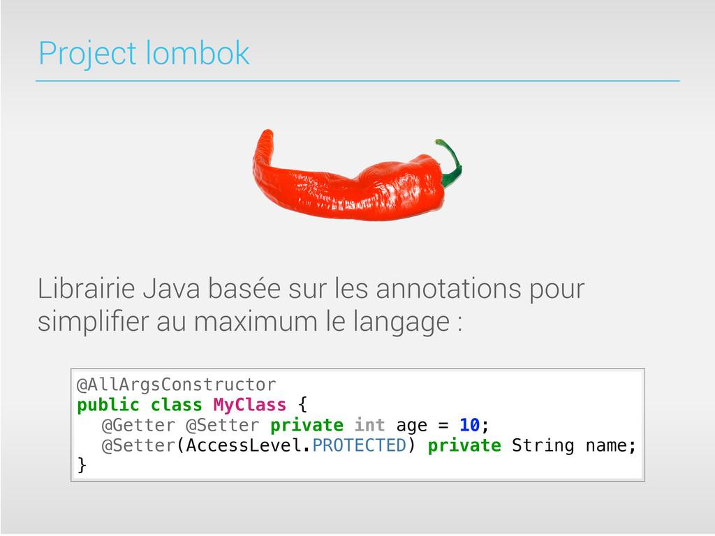 Project lombok Librairie Java basée sur les ann...