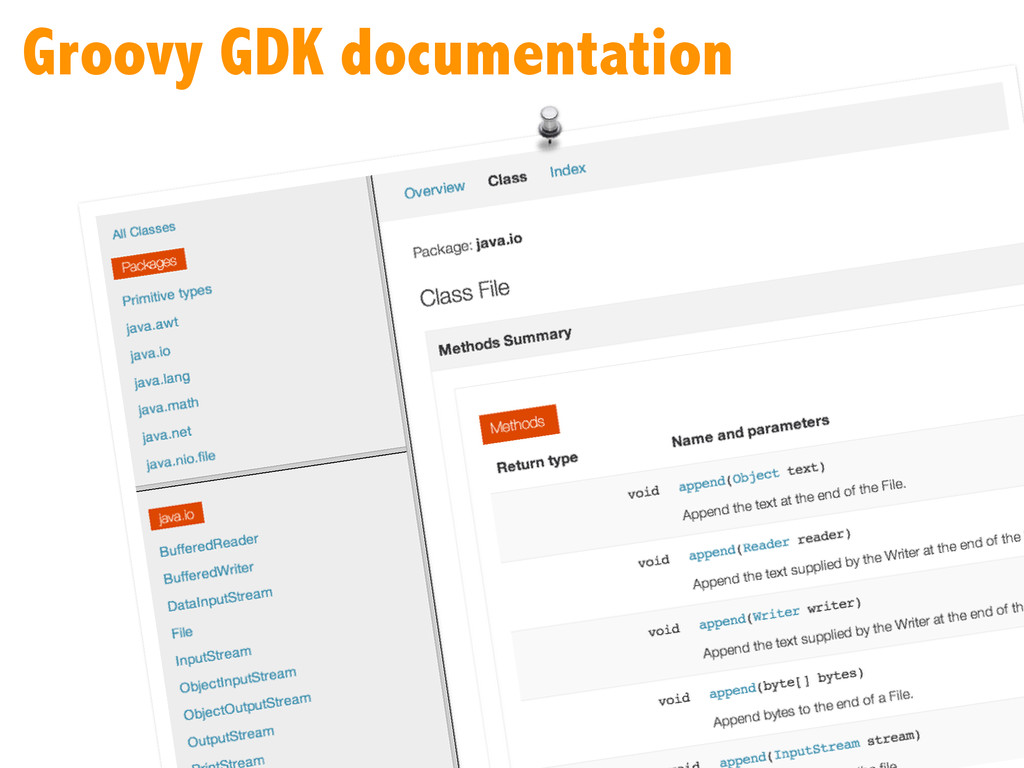 Groovy GDK documentation