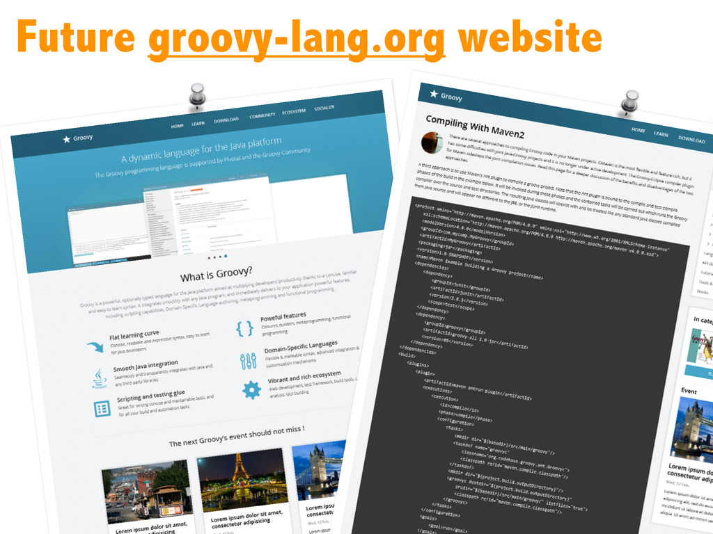 Future groovy-lang.org website