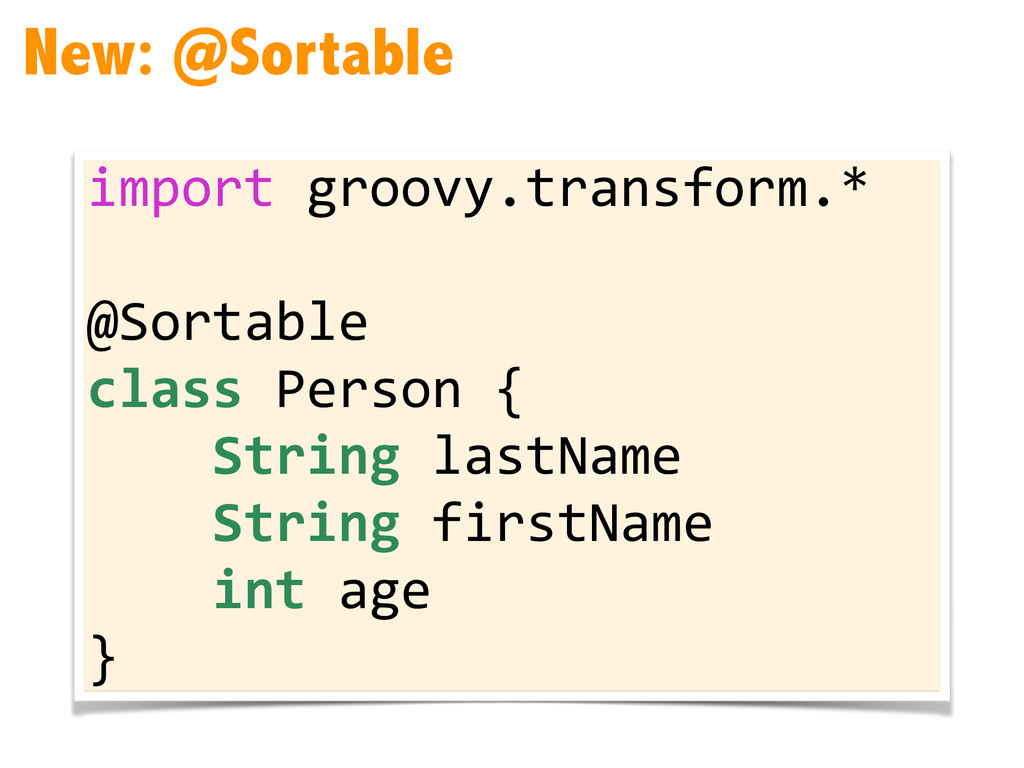 New: @Sortable import	