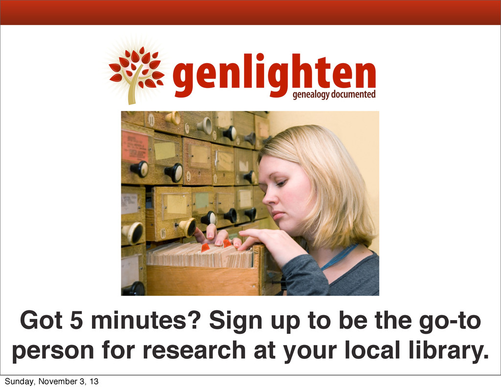 Got 5 minutes? Sign up to be the go-to person f...