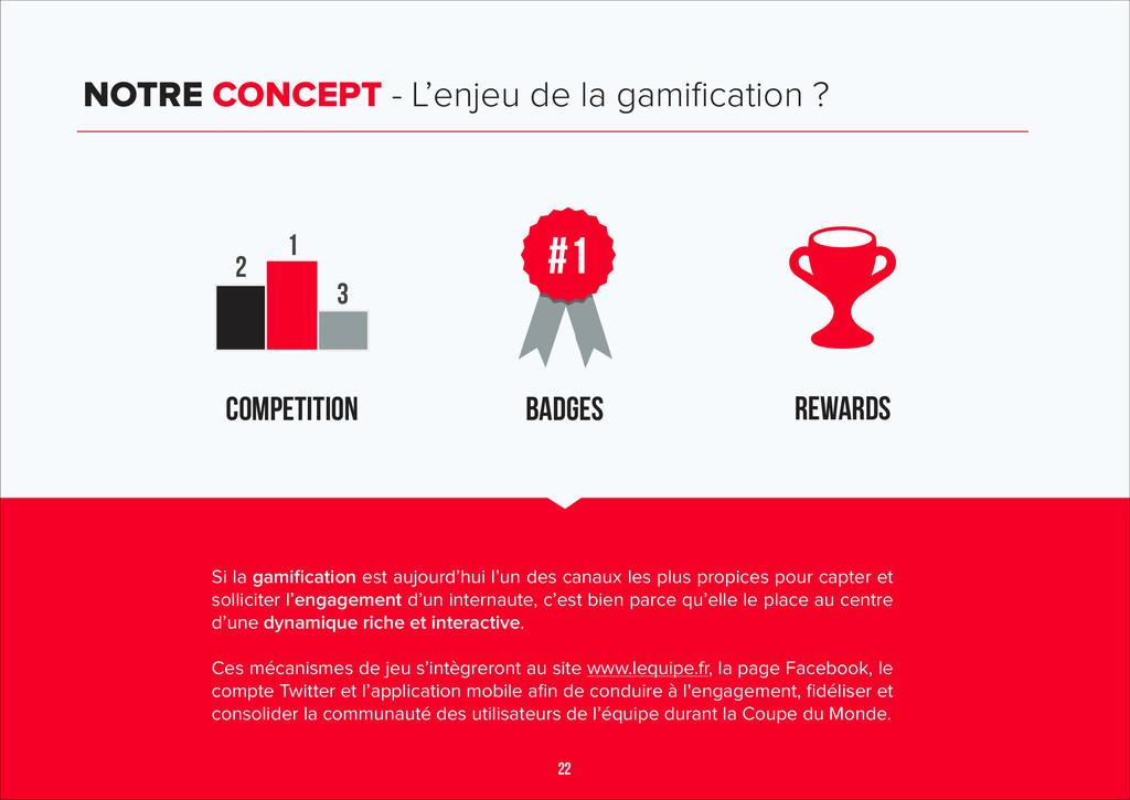22 NOTRE CONCEPT - L'enjeu de la gamification ? ...