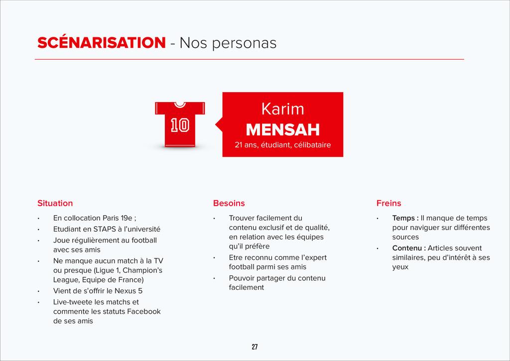 27 SCÉNARISATION - Nos personas Karim MENSAH 21...