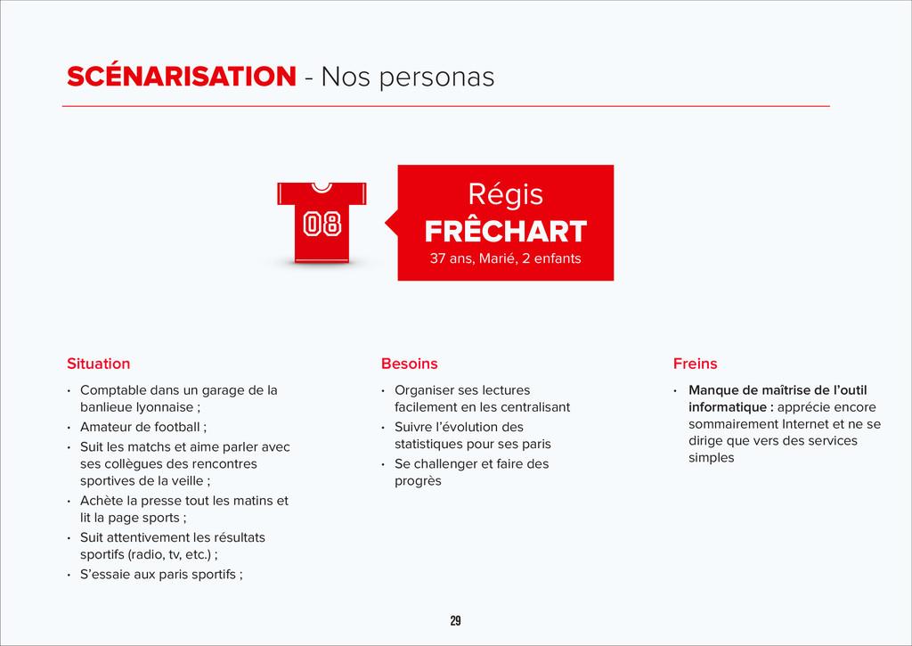 29 SCÉNARISATION - Nos personas Régis FRÊCHART ...