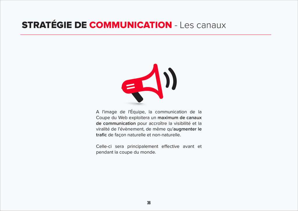 36 STRATÉGIE DE COMMUNICATION - Les canaux A l'...