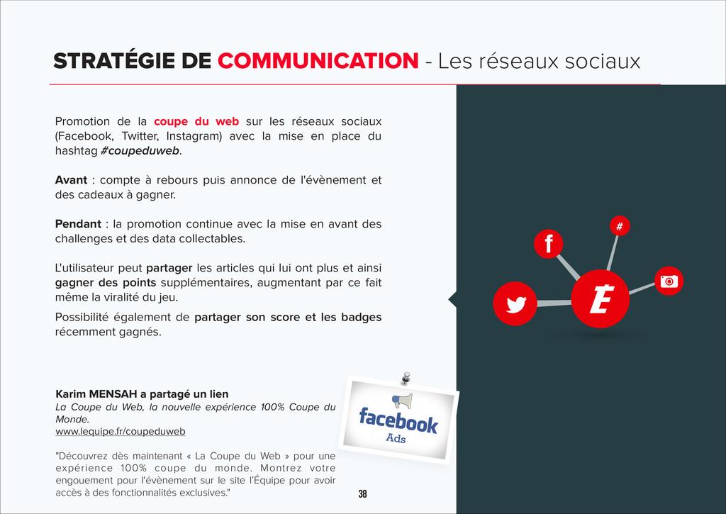 38 STRATÉGIE DE COMMUNICATION - Les réseaux soc...