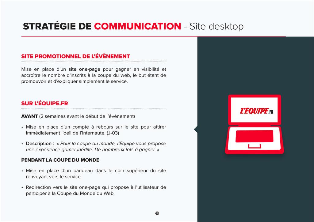 40 STRATÉGIE DE COMMUNICATION - Site desktop c ...