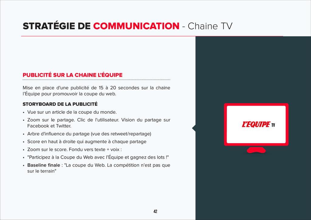 42 STRATÉGIE DE COMMUNICATION - Chaine TV TV PU...