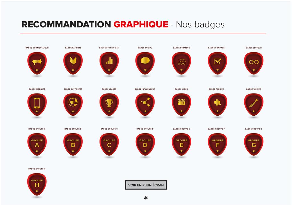 44 RECOMMANDATION GRAPHIQUE - Nos badges VOIR E...