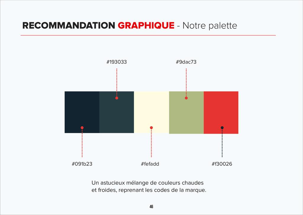 46 RECOMMANDATION GRAPHIQUE - Notre palette #09...