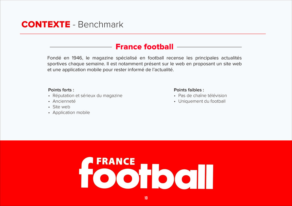 CONTEXTE - Benchmark France football Fondé en 1...