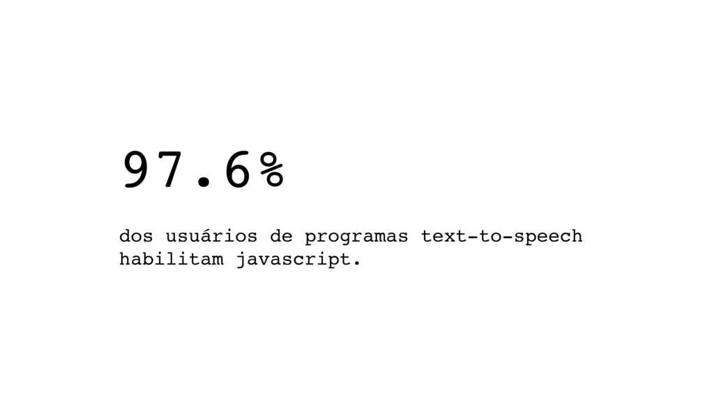97.6%   dos usuários de programas text-to-spe...