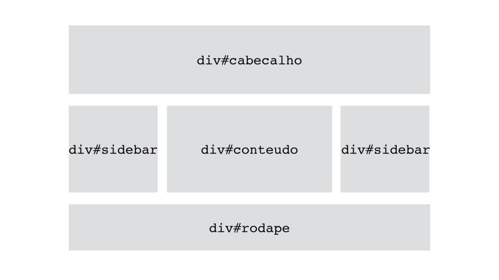 div#cabecalho div#sidebar div#conteudo div#side...