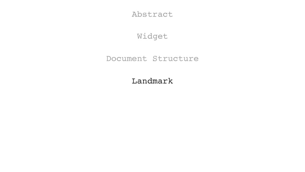 Document Structure Widget Abstract Landmark