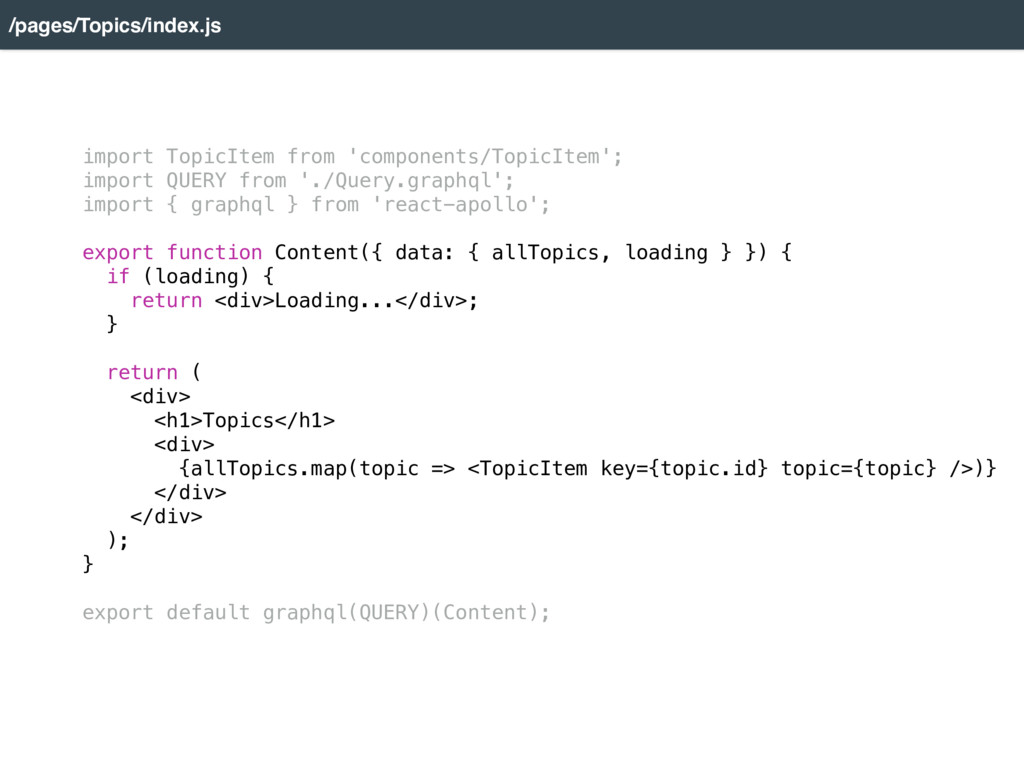 import TopicItem from 'components/TopicItem'; i...