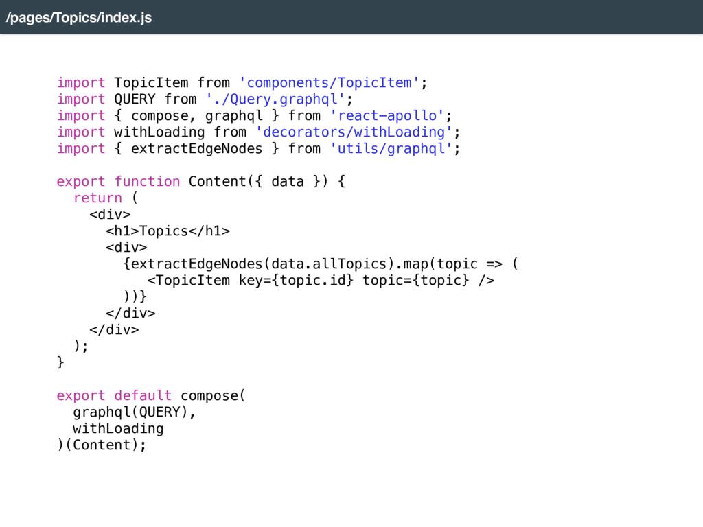 import TopicItem from 'components/TopicItem'; i...