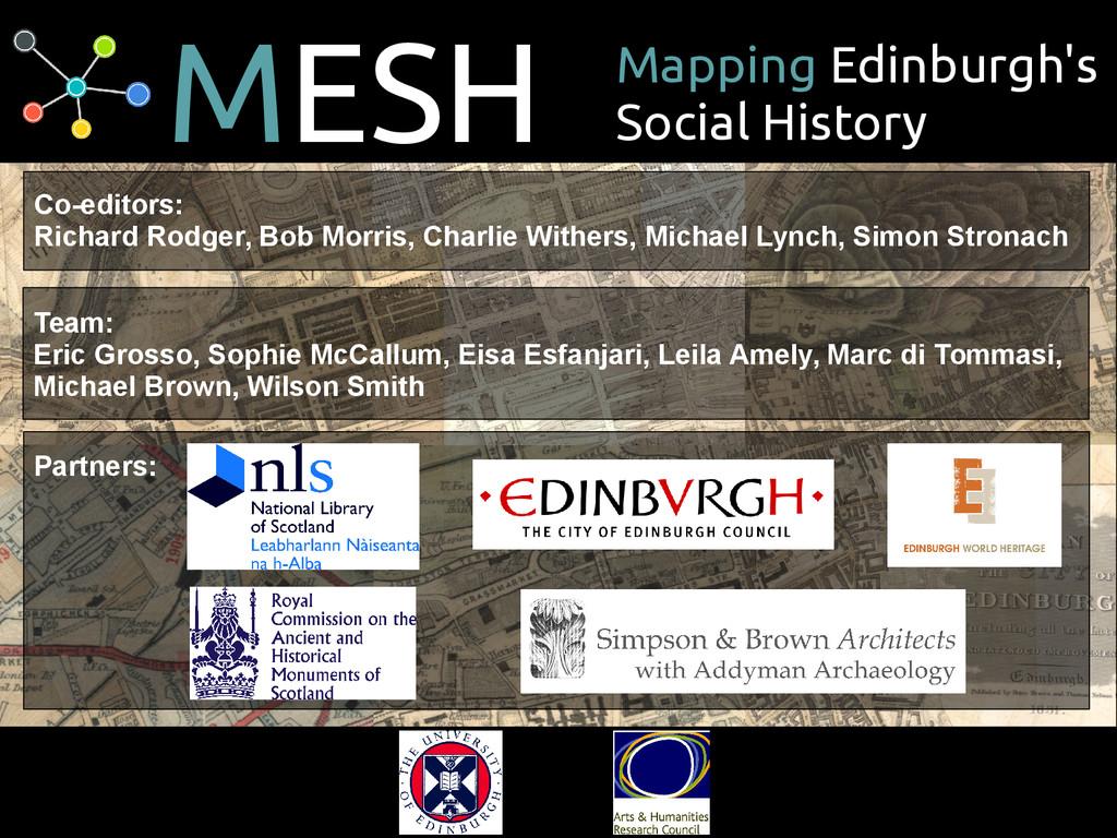 MESH Mapping Edinburgh's Social History Co-edit...