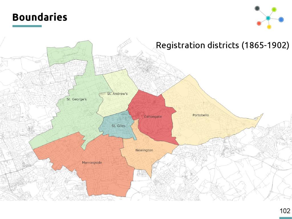 102 Boundaries Registration districts (1865-190...