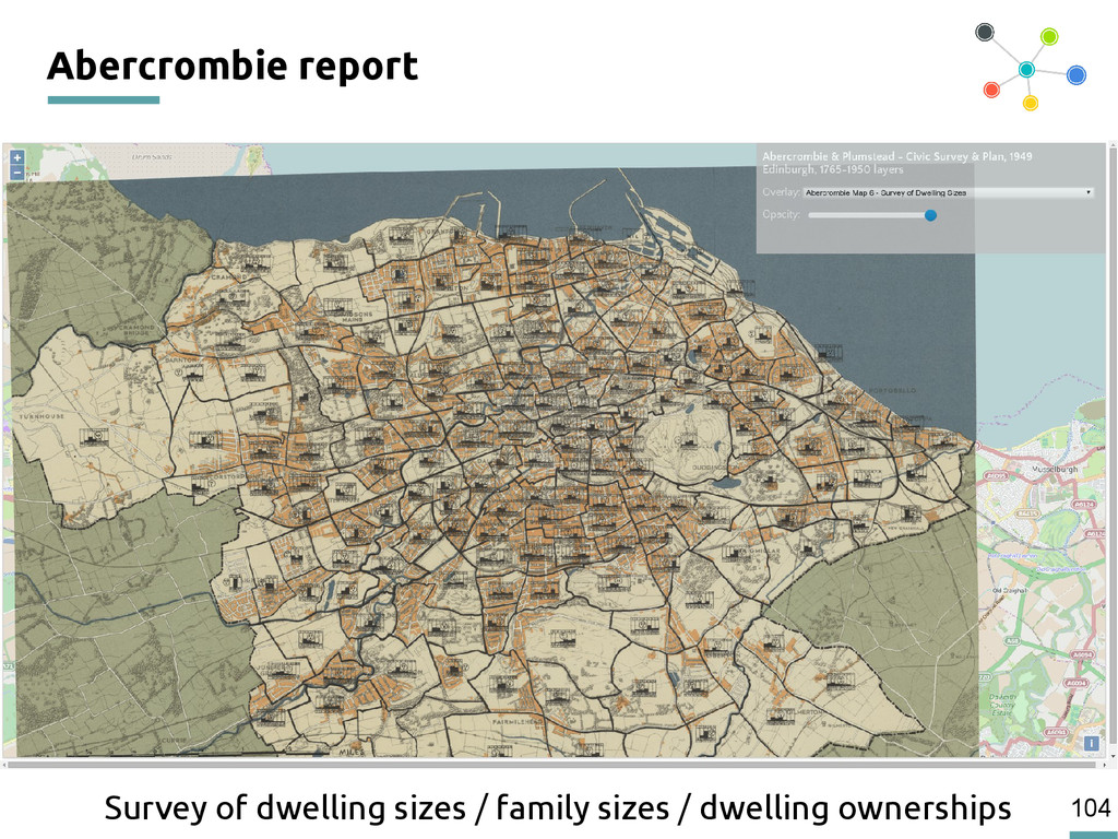104 Abercrombie report Survey of dwelling sizes...