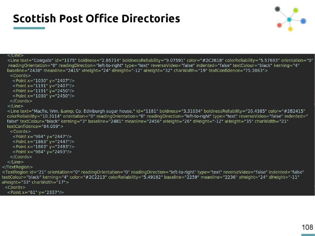 108 Scottish Post Office Directories