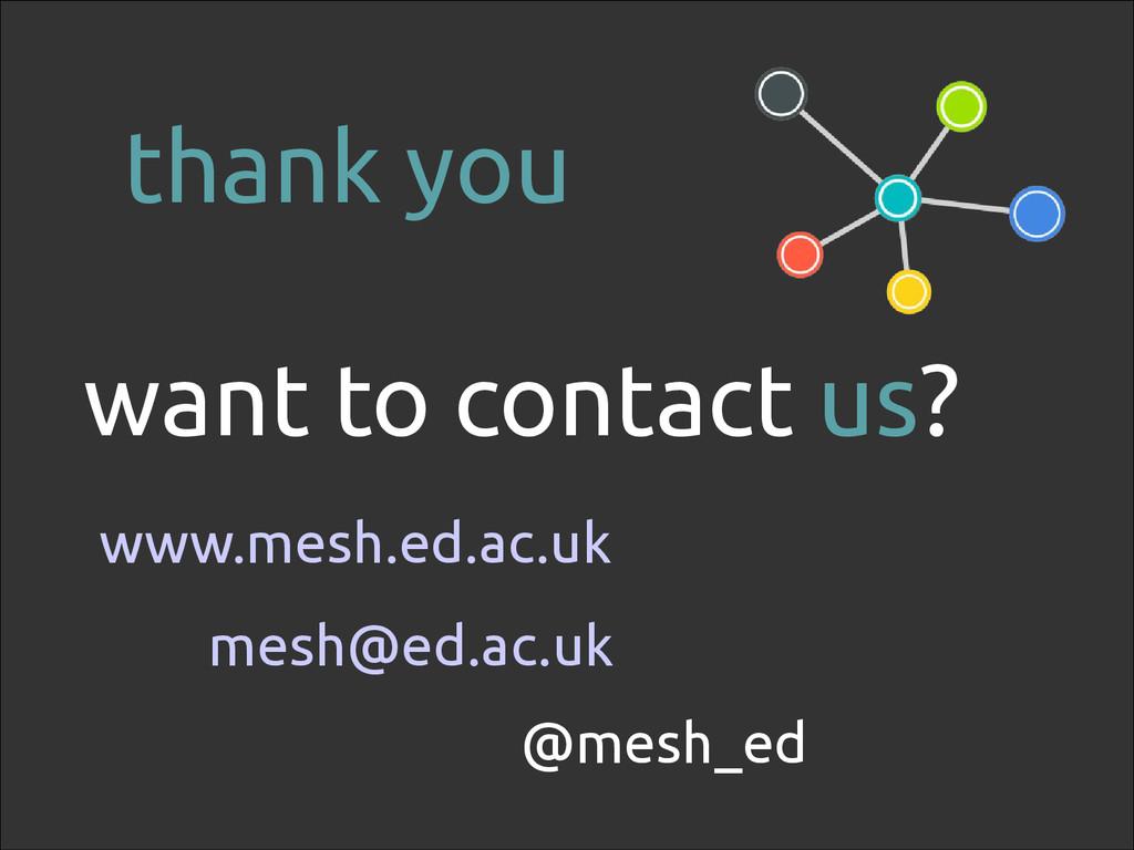 118 want to contact us? www.mesh.ed.ac.uk @mesh...