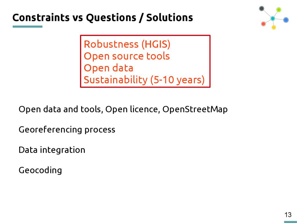 13 Constraints vs Questions / Solutions Open da...