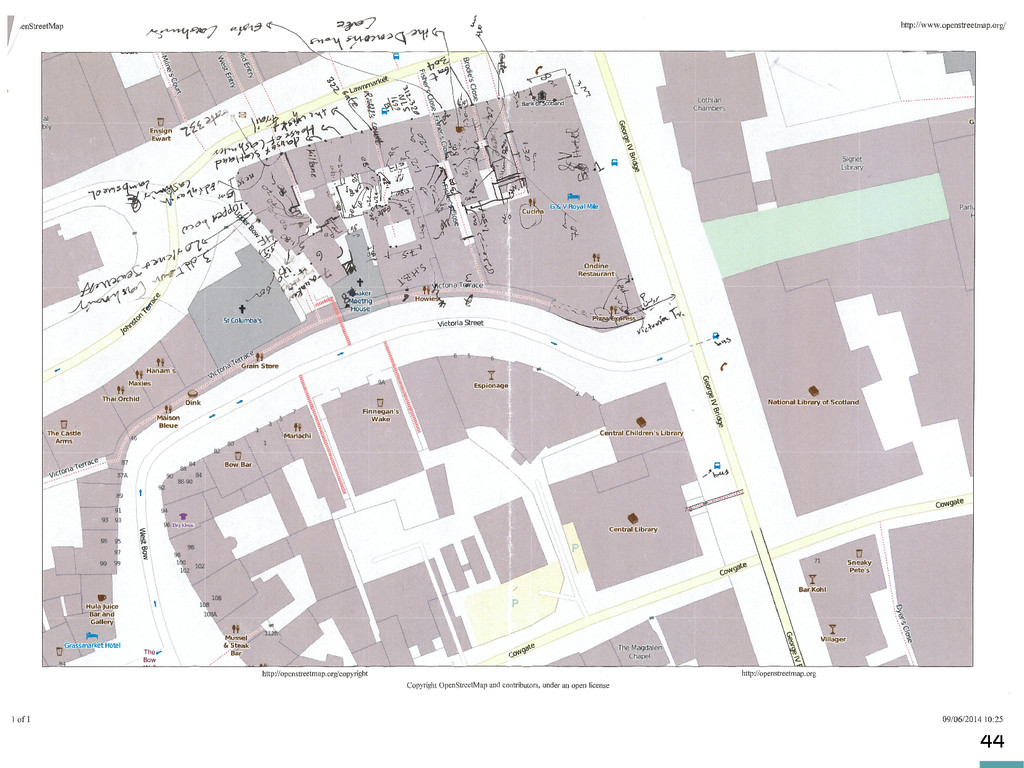 44 Old maps: vectorisation/data integration